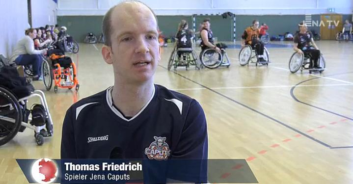 Thomas Friedrich spricht im Bericht zum Heimspieltag bei Jena TV